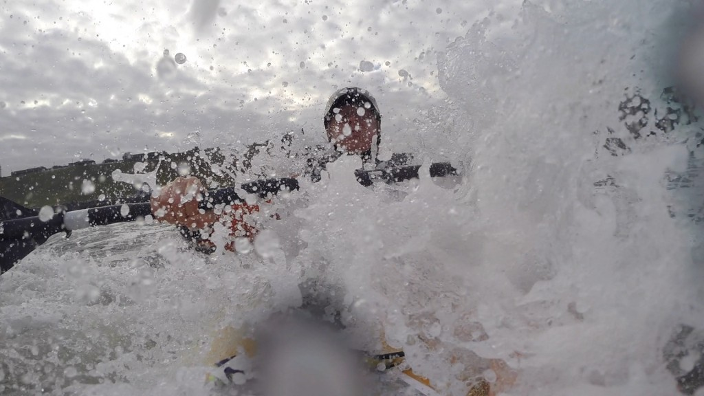 The paddle out was fun