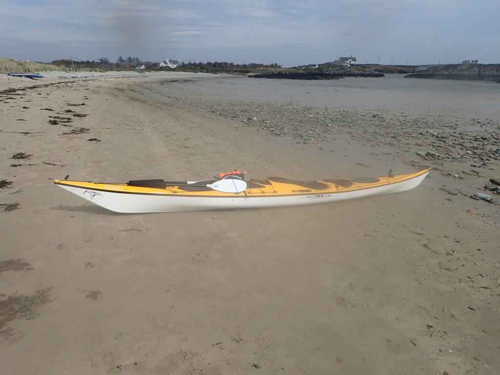 Lolo and an empty Rhoscolyn beach