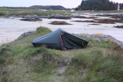 My campsite for the night at Arisaig