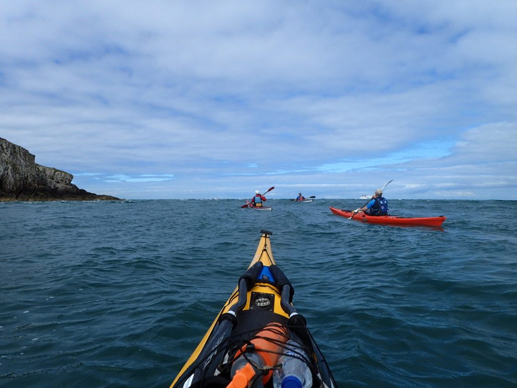 Approaching the Tide Race at North Stack