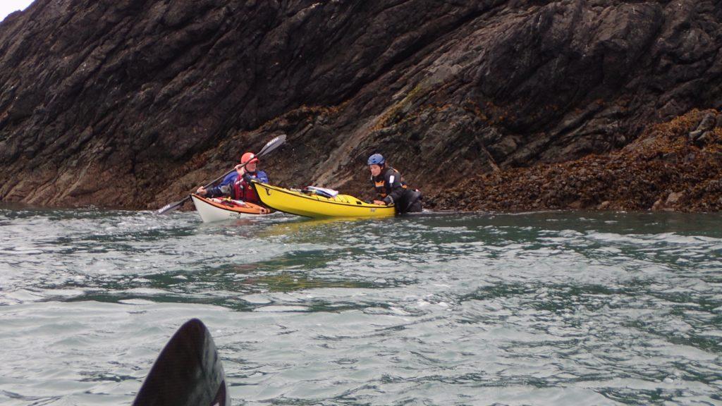 Seda launching off the rocks