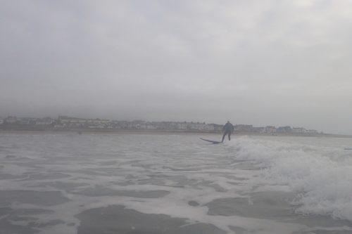 Steamed up surfer