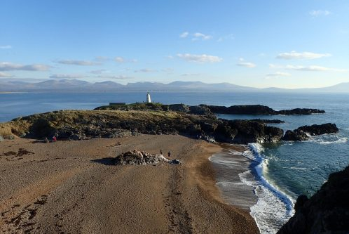 Old Lighthouse and Snowdonia