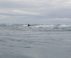 Some kayakers running the outer race