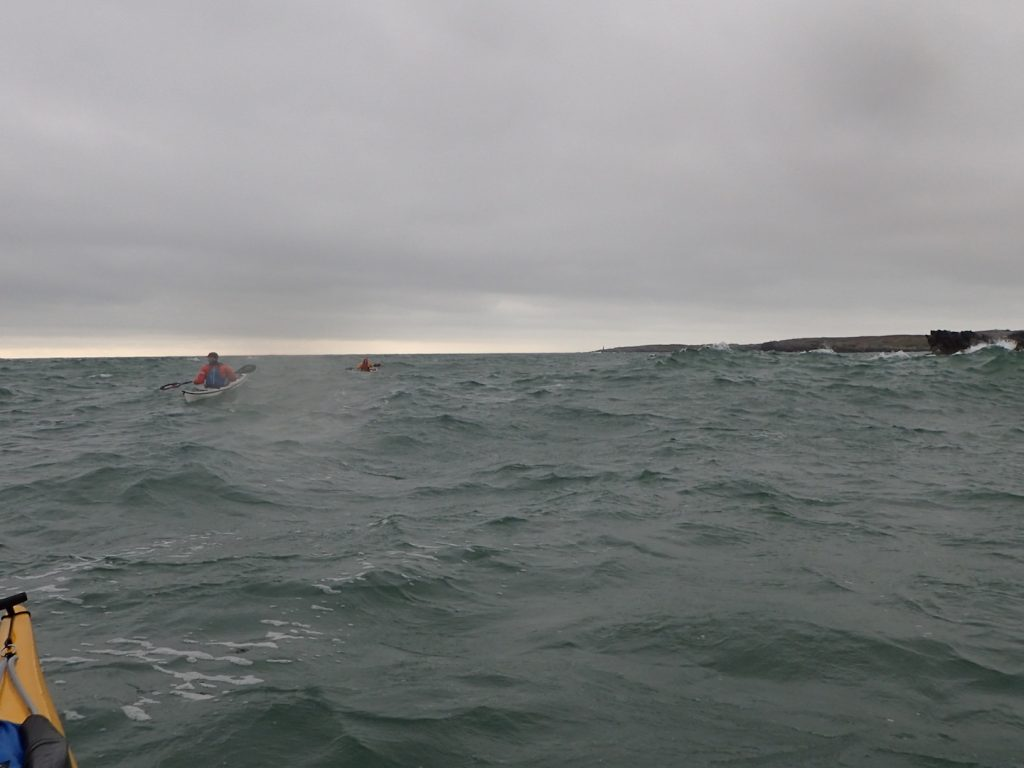 Heading back into the wind